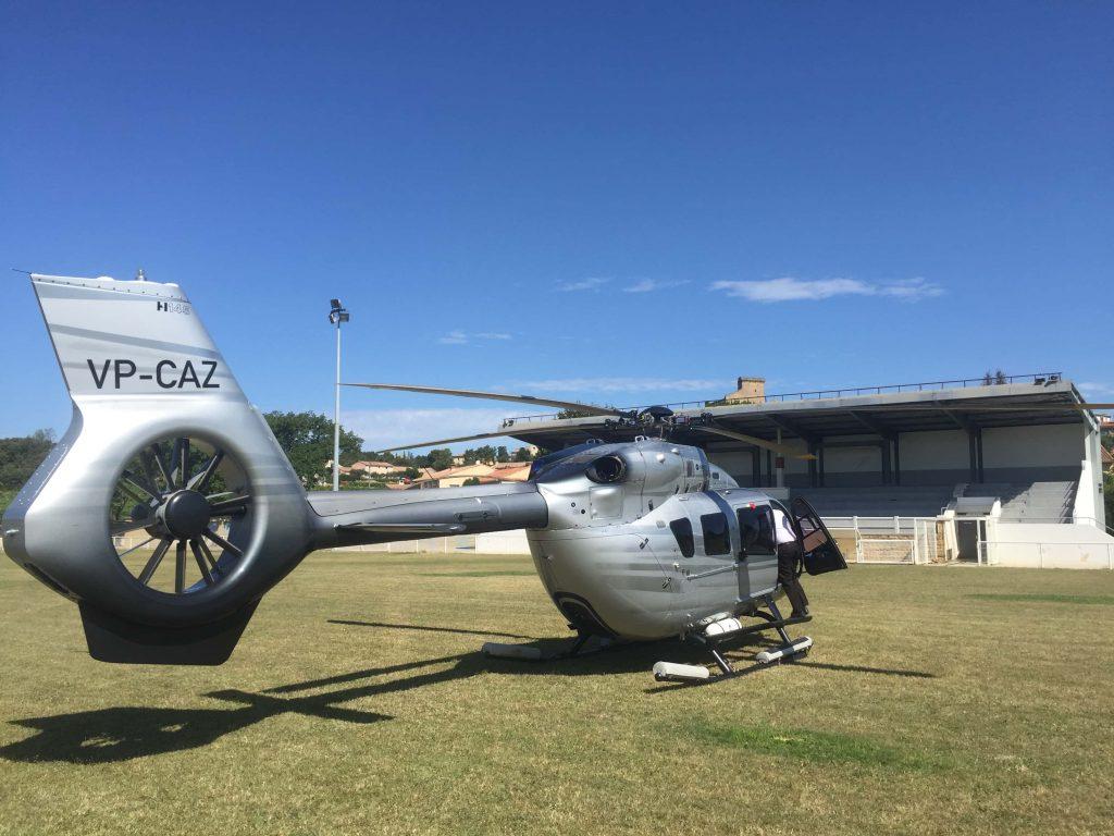 Hélicoptère Châteauneuf du Pape